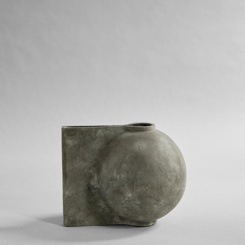 Offset Vase, Mini - Dark Grey