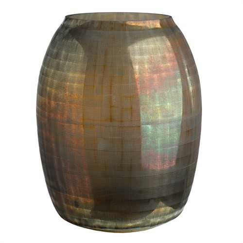 Vase checkered brown