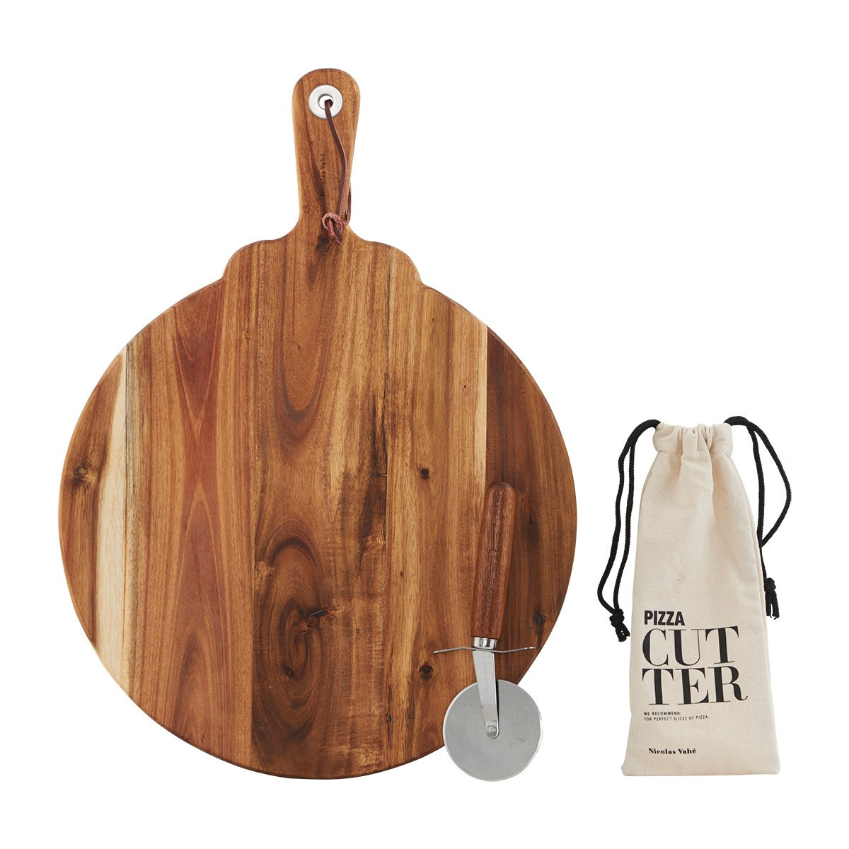 CUTTING BOARD & PIZZA WHEEL