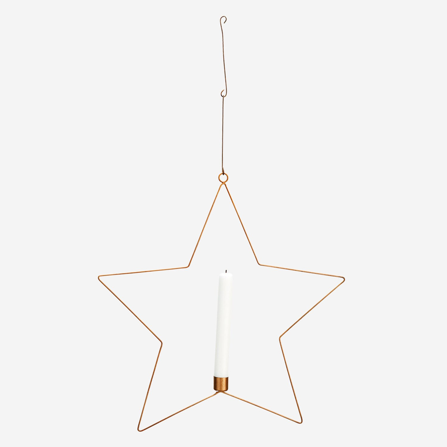 WIRE STAR W/ CANDLE HOLDER