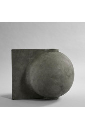 Offset Vase, Big - Dark Grey