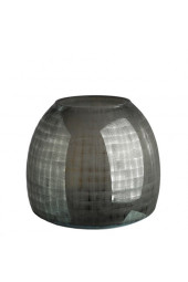 Vase checkered grey