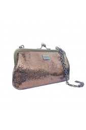 FIESTA MOIRA CHAIN CLUTCH BRONZE
