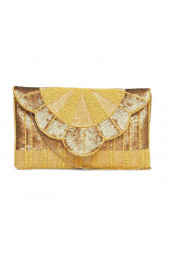 QUEENLY BEADED CLUTCH YELLOW