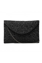 SANY BEADED CLUTCH BLACK