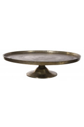 Metal plate on base antique gold 67cm