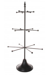 Metal tree for ornaments black 80cm