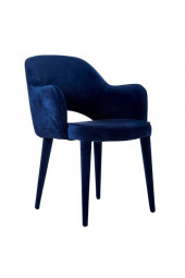 Chair arms cosy velvet blue