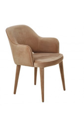 Chair arms cosy velvet beige