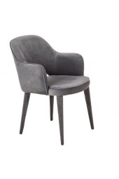 Chair arms cosy velvet grey