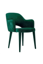 Chair arms cosy velvet green