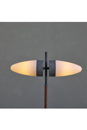 Bull Floor Lamp, Oxidised