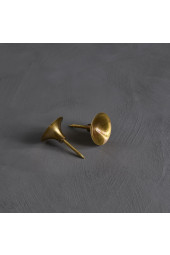 HiHat Knobs, Midi - Brass, 2 set